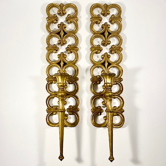 Pair of vintage 1967 Syroco sconces